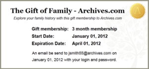 Archives.com gift membership