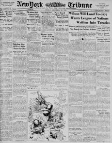 Source: Chronicling America, New-York Tribune, Published 12/13/1918