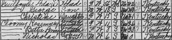 nick and rosemary clooney 1940 census