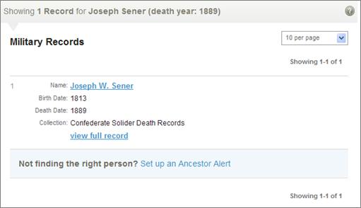 Joseph Sener Military Record.png