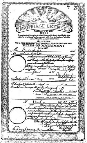 marriage certificates smith county texas 1965