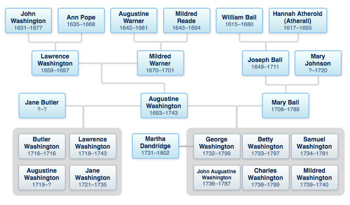 Washington family tree