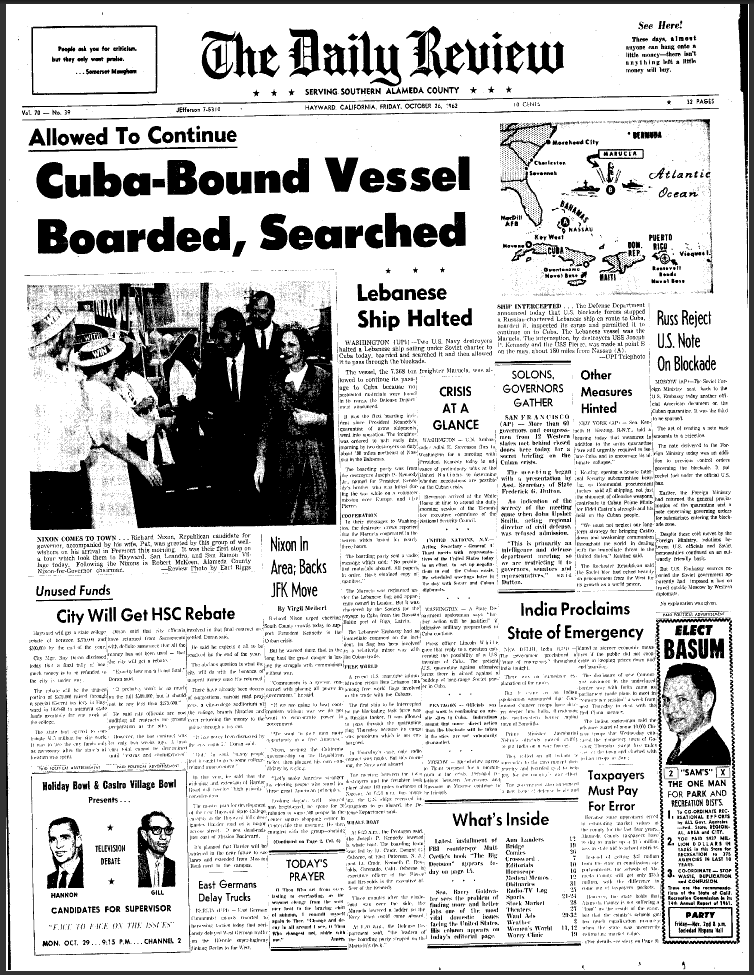 Cuban Missile Crisis articles
