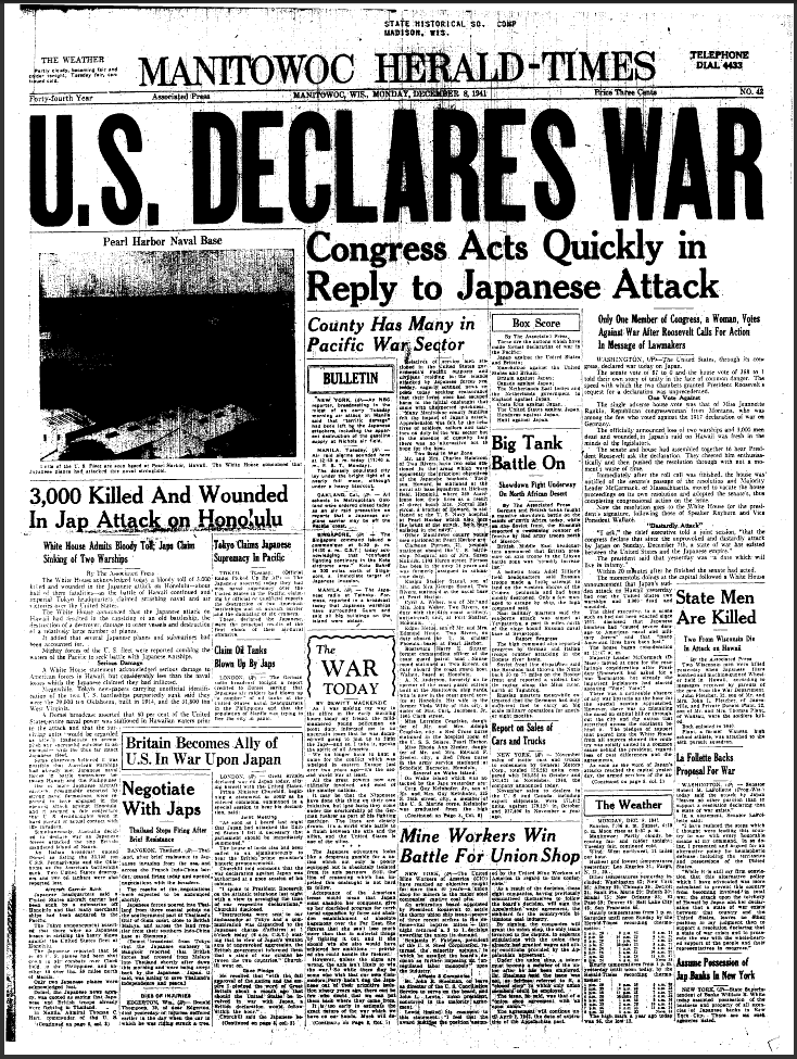 Pearl Harbor articles