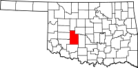 Caddo County vital records