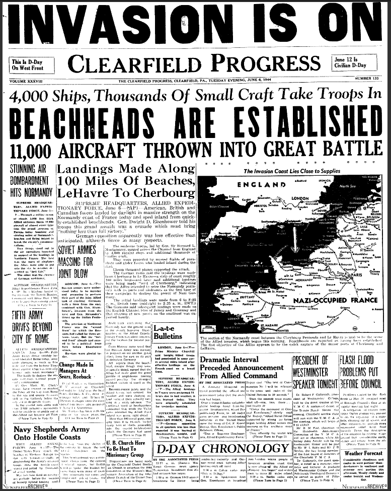 Dday Articles  Newspapers  Records Dday Invasion Records