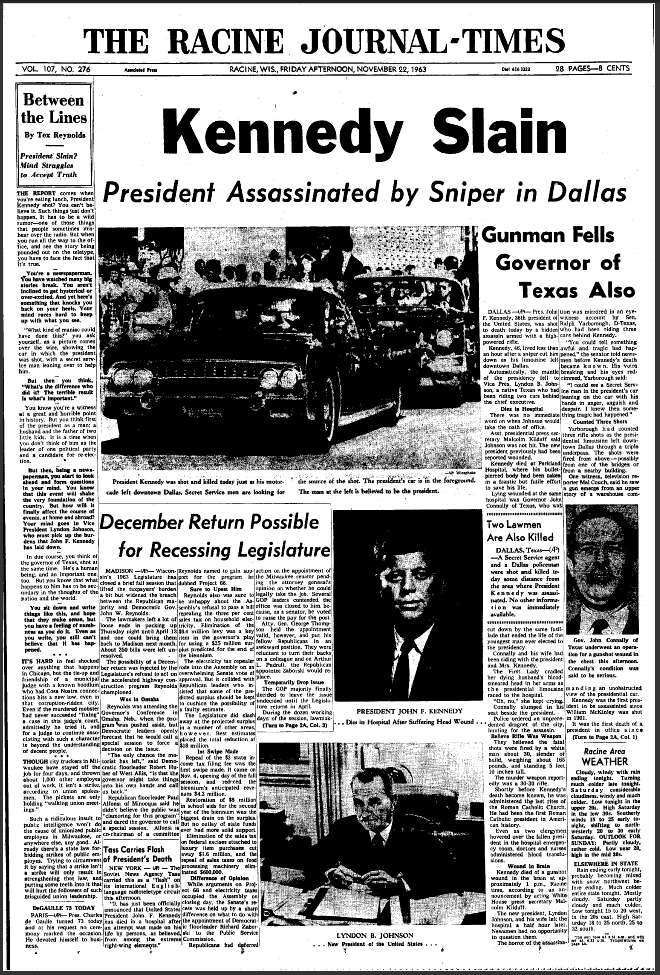 JFK assassination newspaper articles