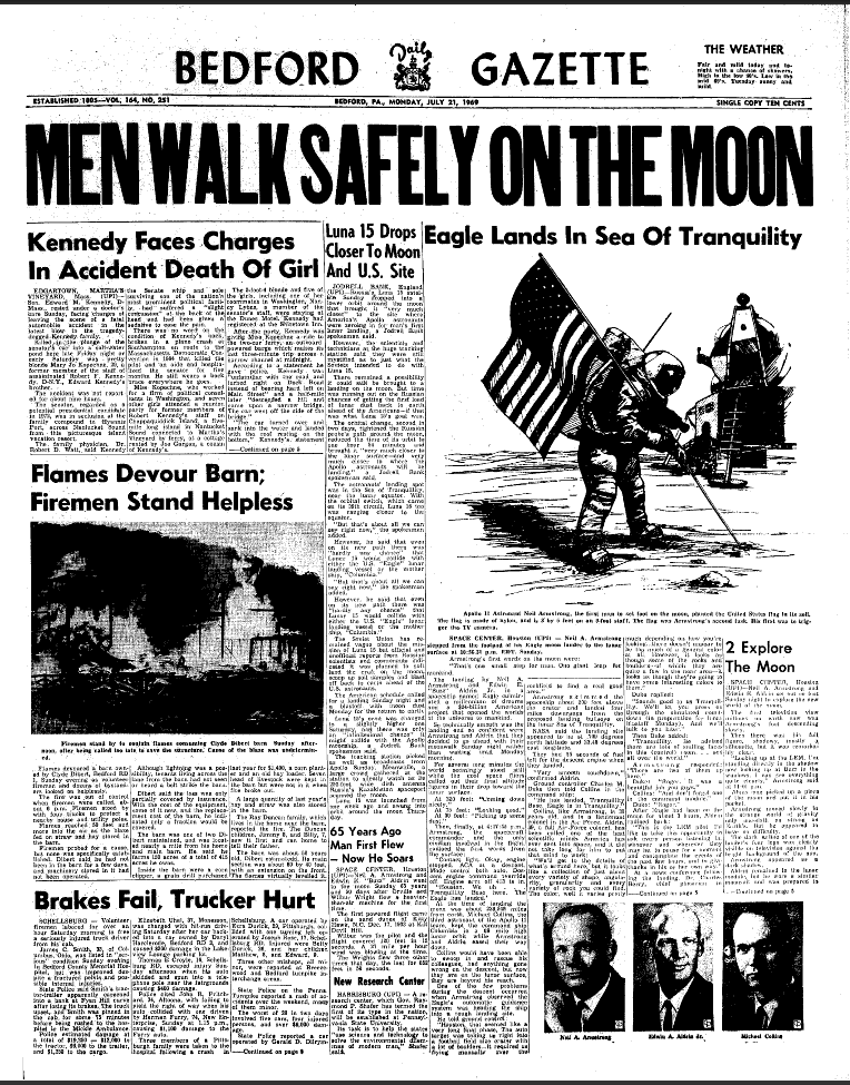 moon landing articles