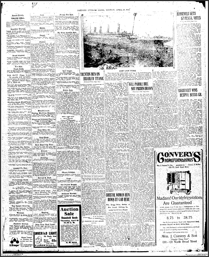 titanic articles